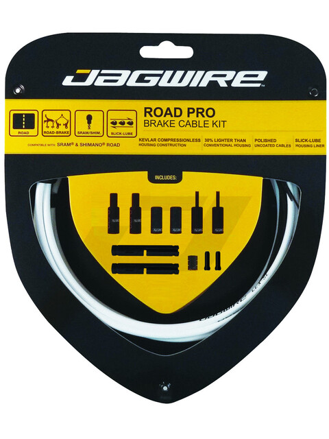 Jagwire Road Pro Bremszugset weiß